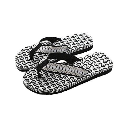 Chanclas Hombres Xinantime Zapatos de Hombre Sandalias de Verano Cómodas Chanclas de Masaje Zapatilla Masculina Chanclas Interiores y Exteriores (41, Negro)
