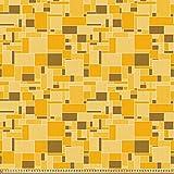 ABAKUHAUS Weinlese-Gelb Microfaser Stoff als Meterware,