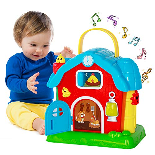 HISTOYE Musical Barn Activity Cube Learning Baby Toys for 1 Year Old Developmental Toddler Early Educational Baby Toys 12-18 Months Interactive Toys for 1 2 3 4 Year Old Girls Boys
