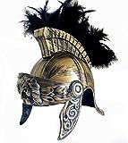 SDBRKYH Casco de Guerrero Romano, Casco de Guerrero Espartano Sombrero Romano Antiguo Casco de Guerrero Medieval Réplica de Accesorios de Halloween,C