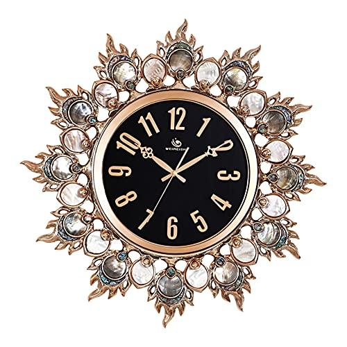 HJYSQX Reloj de Pared Moderno de Metal de Estilo Bohemio de Cristal de Lujo con Movimiento silencioso, Esfera de Cristal Blanco de 9.5', Gran Resplandor Solar, Gran Reloj Decorativo Elegante para
