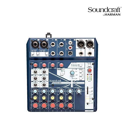 Soundcraft Notepad 8FX consola de mezclas con USB I/O
