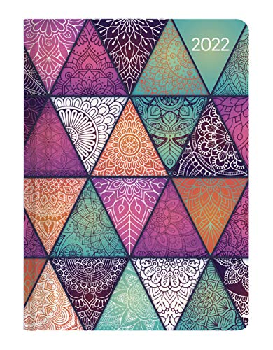 Alpha Edition - Agenda Settimanale Ladytimer 2022, formato tascabile 10,7x15,2 cm, Oriental Pattern, 192 pagine