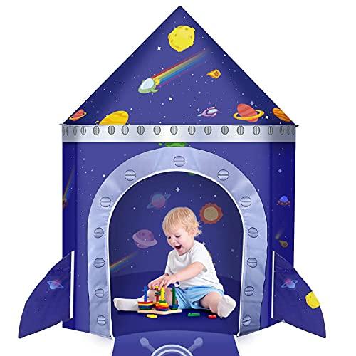 Tienda de Campaña Infantil, Comuis Sharp Grande Tienda para Niños Castillo Playhouse Interiores y Exteriores, Plegable Tienda de Juegos Pop Up Regalo para Niña