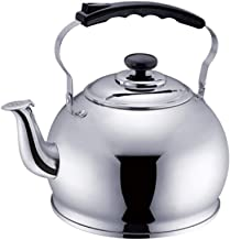 MSWL Kettle 304 Stainless Steel Whistle Kettle Sounding Teapot Kettle Gas Cooker Universal 5 Liters SS50P1 Kettle (Color :...