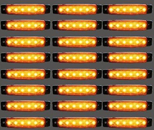 30 x LED côté tracé 24 V Ambre Orange marqueur LED