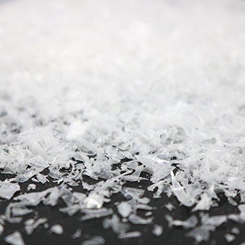 com-four® 5X 80g Kristallschnee zum Dekorieren und Basteln - Kunstschnee als Weihnachtsdeko - Winter-Deko mit künstlichem Schnee (05 Stück - Kristallschnee/80g)