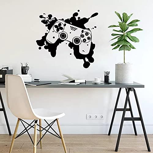 Game Controller Wall Decals Graffiti Street Culture Vinyl Stickers, Joystick Video Game Controller Decals Teen boy art-58x54cm