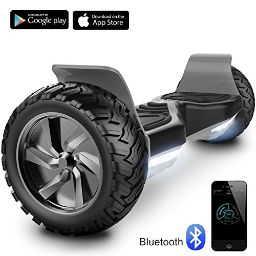 "Cool&Fun 8.5"" Balance Board Scooter Patinete Hummer SUV 700W Eléctrico Bluetooth App Self Balancing (Black)"