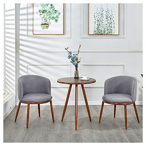 Restaurant Tisch und Stuhl Kombination Café 1 Tisch 2 Stühle Schlafzimmer Möbel Set Baumwolle und Leinen Stuhl Tea Shop Burger Shop Bar Freizeitbereich Konferenzraum grau