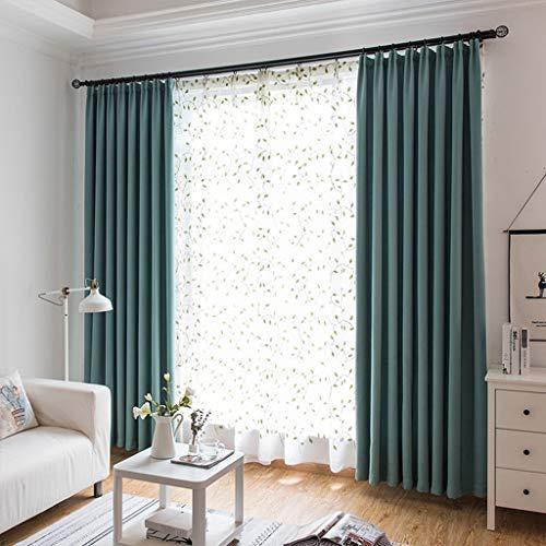 Xiao Jian- Vorhänge Verdunkelungsvorhänge Gefüttert Bleistiftfaltenband Top Vorhänge for Kinderzimmer Schlafzimmer for Hauptdekoration (Farbe : Turquoise, Größe : W2.0m x h2.7m)