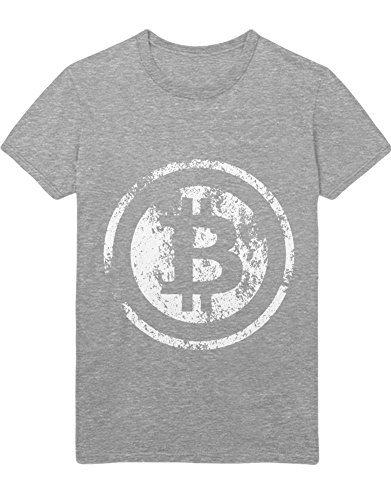 T-Shirt Cryptocurrency Bitcoin H000022 Grau S