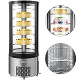 VBENLEM 14cu. ft.Commercial Curved Glass Display Refrigerator 400L...