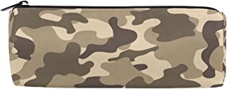 ALAZA Camouflage Cylinder Pencil Case Holder Zipper Large Capacity Pen Bag Pouch Students Stationery Cosmetic Makeup Bag