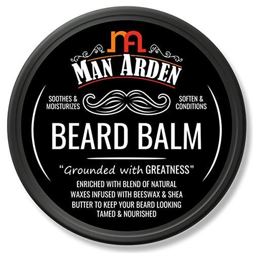 Man Arden Beard Balm - Soften and Moisturizes Beard with Beeswax and Shea Butter, 50gm