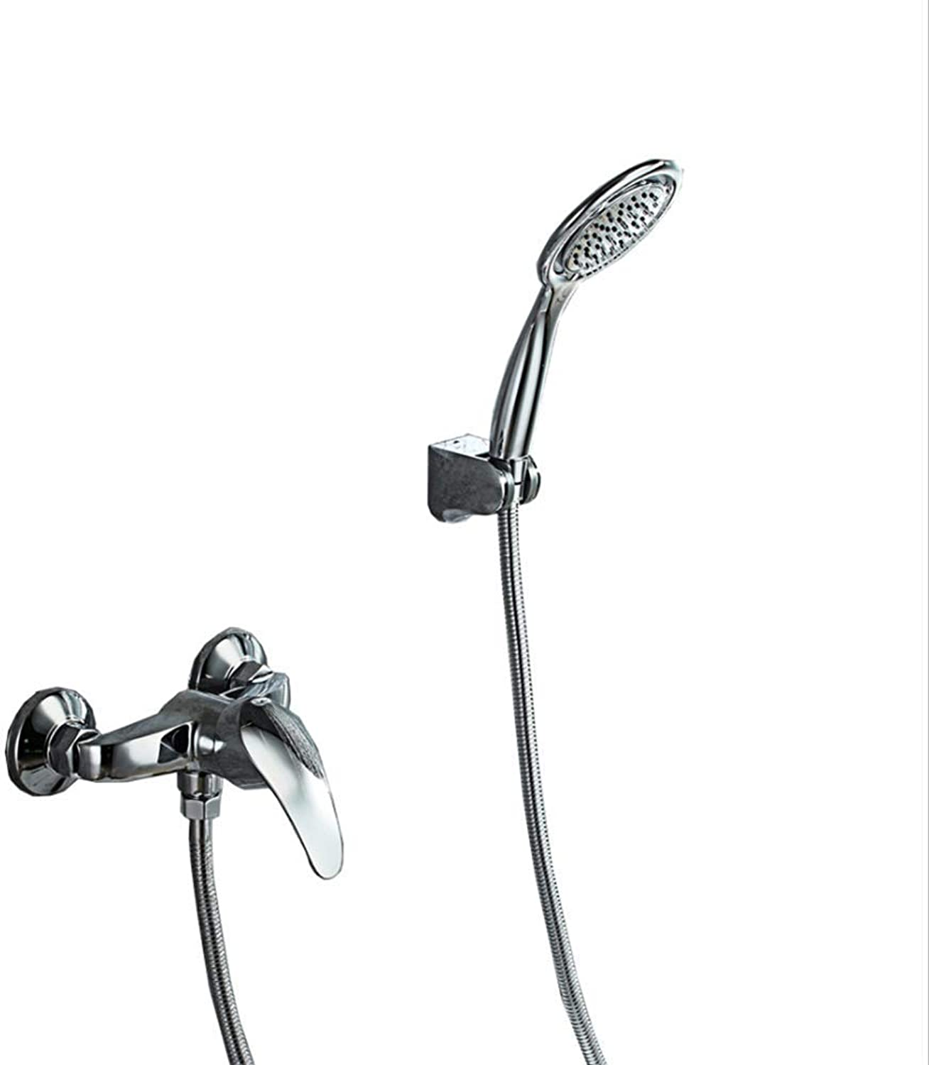 Bathroom Wall-mounted Shower, Bath Taps With Shower, Stainless Steel Bath Shower Set, Hot and Cold Mixing Water