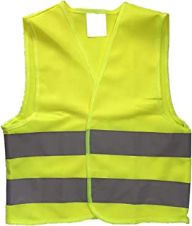 Kids High Visibility Reflective Safety Vest for Costume Running Cycling Size M