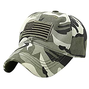 Cocila USA American Flag Patch Hat Military Tactical Operator Detachable Baseball Cap Unisex Trucker Special Tactical Operator Forces Hats