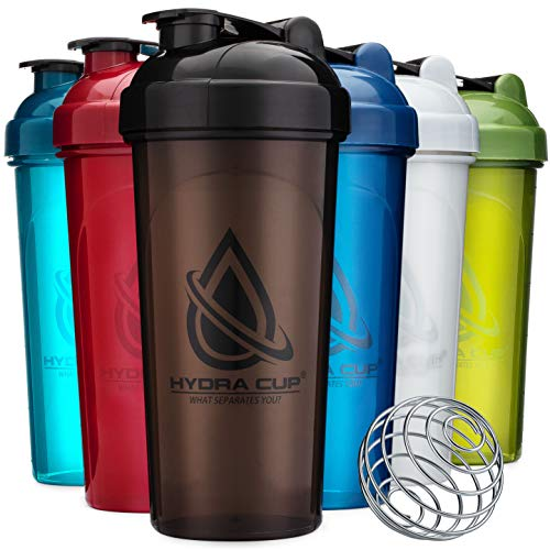 6 PACK - Hydra Cup OG Shaker Bottles, 28-Ounce Max Value Blender Pack, Protein Shaker Cups, 6qty Stand Out Colors.