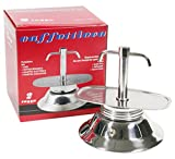 Bialetti Espresso Coffee Maker with Two Spouts and Induction Base, Stainless Steel, Grey