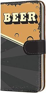 スマホケース 手帳型 カードタイプ Galaxy S6 edge SC-04G・SCV31・404SC 対応 [BEER ビール・ブラック] ビンテージ アメリカン レトロ USA SAMSUNG サムスン ギャラクシー エスシックス エッジ ...