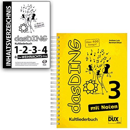 Das DING Band 3 mit Noten + Original Inhaltsverzeichnis - Bände:1-2 - 3-4 - Das Weihnachts-Ding - Verlag Edition Dux D8888 9783868491944