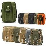 ZhaoCo Marsupio Tattica edc Pouch Camo Multiuso Sacchetto Militare di Nylon Tattico da Cintura Borsello Porta Cellulare Hiking Campeggio - Army Green
