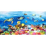 Fabulous Fabrics Frottee Panel Badeponcho Unterwasserwelt