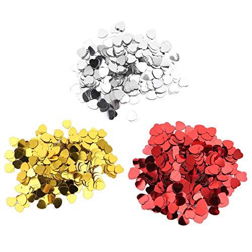 Confeti de lentejuelas en forma de corazón de 0.4 pulgadas, 4500 piezas de confeti de corazón de resina de plástico para bricolaje, boda, decoración del día de San Valentín, fiesta de cumpleaños