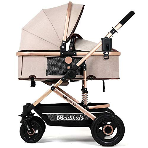 Lowest Price! HKJCC Ultra Light and High Landscape Newborn Baby Carriage 0-36 Months Folding Sitting...