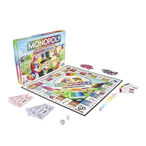 Monopoly Unicorns vs. Llamas Jeu de société pour les 8 ans et plus; - 2