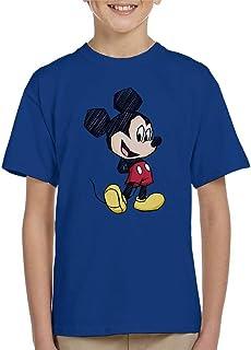Disney Mickey Mouse Big Head Sketch Kid's T-Shirt