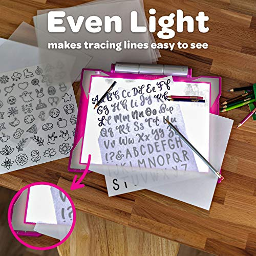 Crayola Light Up Tracing Pad Pink, Gifts for Girls & Boys, Age 6, 7, 8, 9