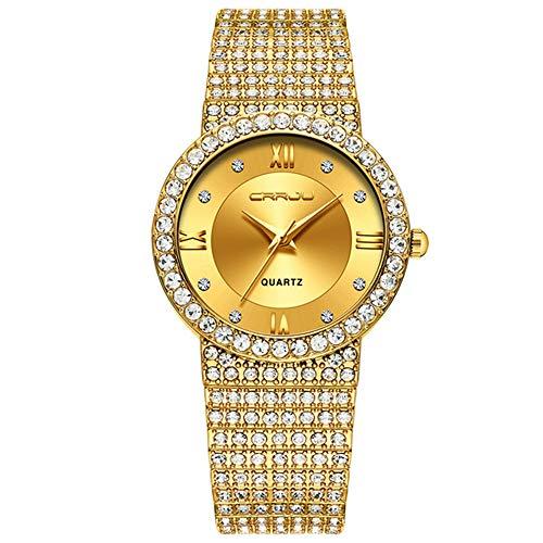Uhr Uhren Armbanduhr 18 Karat Gold Uhr Damenuhren Damenmode Uhr Damenuhr Luxusmarke Diamant Quarz Gold Armbanduhr Geschenke für Damen