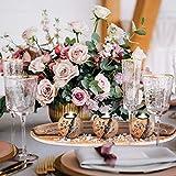 Relaxdays Teelichthalter Set, Kerzenschale, Dekokies, runde Kerzenhalter, stimmungsvolle Tischdeko, 51,5 cm lang, braun - 4