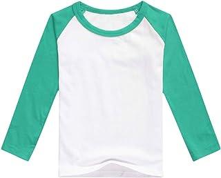 IBTOM CASTLE Unisex Kids Raglan Short/Long-Sleeve Jersey T-Shirt for Boys Girls Cotton Baseball Tee Bike Sport Clothes