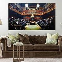 海外限定 バンクシー BANKSY 『退化した議会』「Devolved Parliament」 大型サイズあり キャンバス ポスター 美術品 絵画 (40x50cm)