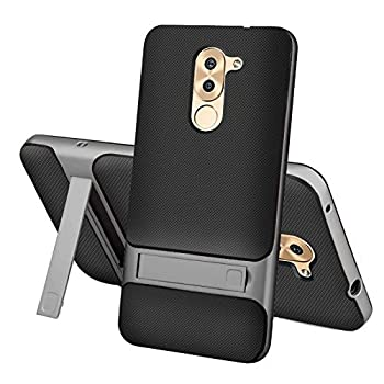 Case for Huawei Honor 6X BLN-AL10 BLN-AL20 BLN-TL00 BLN-TL10 BLN-L21 BLN-L24 BLN-L22 / GR5 2017 BLL-L21 BLL-L22 / Mate 9 Lite BLL-L23 Case Cover Protective Cover with Bracket Protection Shell Gray
