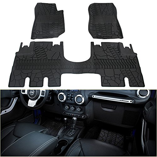 Winunite Front and Rear Floor Mats Compatible with...