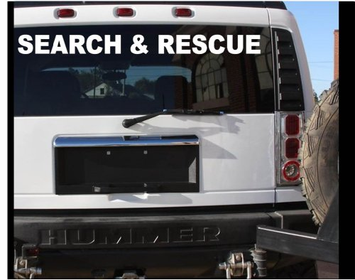EZ-STIK Search and Rescue Sticker Vehicle Decal - Large K9 911 Sticker TORNADOC456