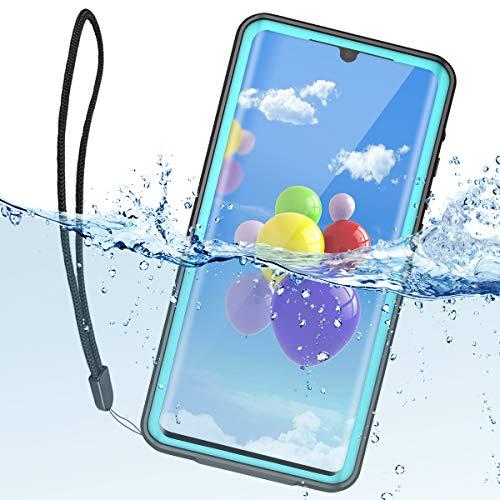 ShellBox Huawei P30 Pro Hülle,IP68 Wasserdicht Handy Hülle 360 Grad Fallschutz Stoßfest Staubdicht Robuster Stoßfänger Dünn Wasserfest Schutzhülle für Huawei P30 Pro (Teal 6.47