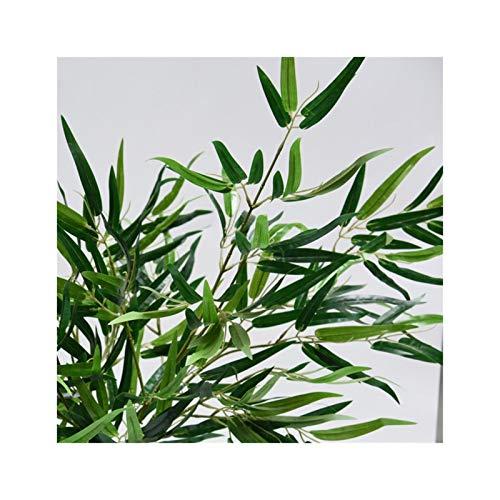 ADosdnn Künstliche Green Bamboo Leaves Silk Fälschungs-Pflanzen for Hochzeit Startseite Büro Hotel dekorative Blumen (Color : Olive)
