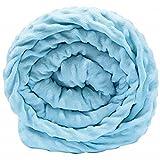Purebello Gewichtsdecke + GRATIS Überzug, besserer Schlaf und Entspannung pur - Pastellblau 6,8kg