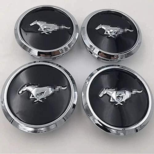 MLYNB Tapas centrales para bujes de Coche para Mustang OEM, tapacubos de 68 mm Llantas emblemas Cubiertas Pegatinas decoración, Estilo Interior de automóviles
