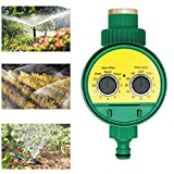 JasCherry Timer per Irrigazione Automatica, Programmatore di Irrigazione, Temporizzatori per Irrigatore con Coperchio Impermeabile, Irigazione Timer per Giardino, Prato, Balcone, Cortile