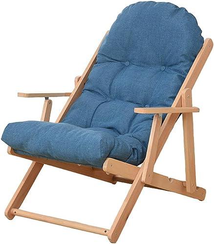 XIAOYAN Lazy Couch Leisure Rückenlehne für Balkon Nickerchen Deck Chair 3 Position einstellbar Soft Kissen 4 Farben (Farbe   Blau)