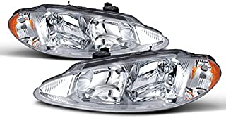 For Dodge Intrepid OE Replacement Chrome Bezel Headlights Driver/Passenger Head Lamps Pair New
