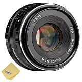 Meike Camera Lens 35mm f1.7 Manual Focus Lens APS-C for 4/3 Systems Mirrorless Cameras Olympus & Panasonic GF5/6/7 + Venidice Cloth