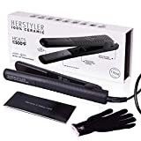 Herstyler Superstyler Onyx Ceramic Flat Iron, Ceramic Hair Straightener With Adjustable Temperature, Travel-friendly Dual Voltage Flat Iron