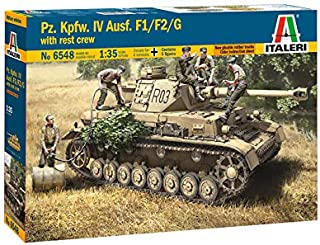 Italeri 6548S: 35 Pz.Kpfw.IV AUSF.F1/F2/G Early/Crew Model Building Kit, Stand Model Making, Crafts, Hobbies, Gluing, Plastic Kit Unpainted